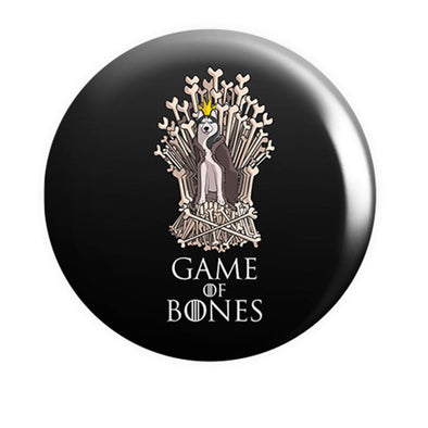 BUTTON BADGES PATTERNED Game Of Bones Button Badge
