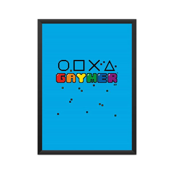 POSTERS A3 FRAMED Gaymer Poster FRYING PUN