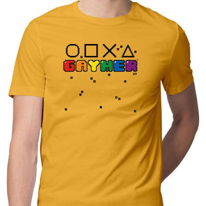 T-SHIRTS S / YELLOW Gaymer T-Shirt For Men FRYING PUN