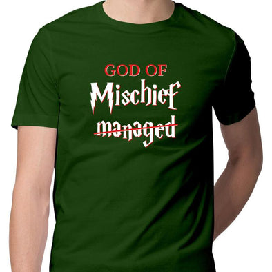T-SHIRTS S / OLIVE GREEN God Of Mischief T-Shirt For Men FRYING PUN