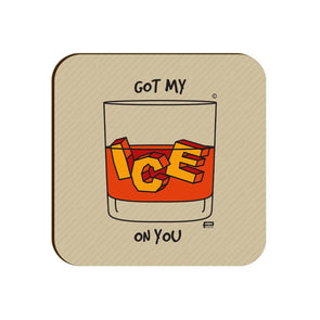 COASTERS Got My Ice On You Coaster FRYING PUN