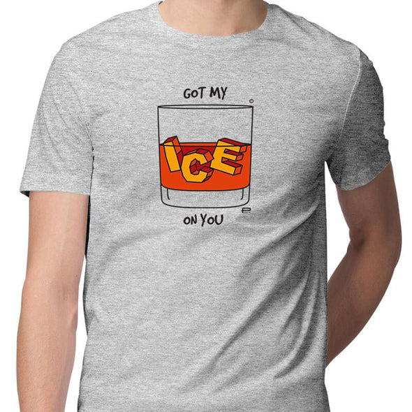 T-SHIRTS S / MELANGE GREY Got My Ice On You T-Shirt For Men FRYING PUN