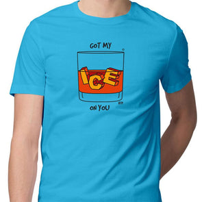 T-SHIRTS S / SKY BLUE Got My Ice On You T-Shirt For Men FRYING PUN