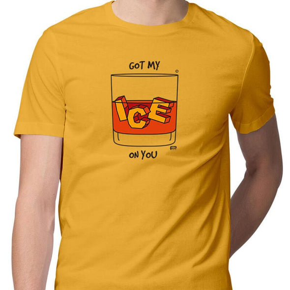 T-SHIRTS S / YELLOW Got My Ice On You T-Shirt For Men FRYING PUN