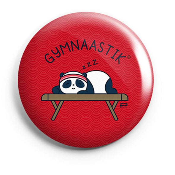 BUTTON BADGES PATTERNED Gymnaastik Button Badge FRYING PUN