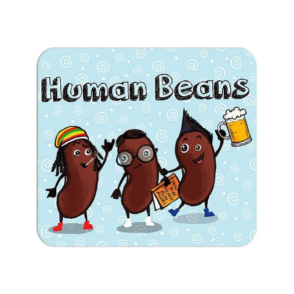 MOUSE PADS Human Beans Mouse Pad