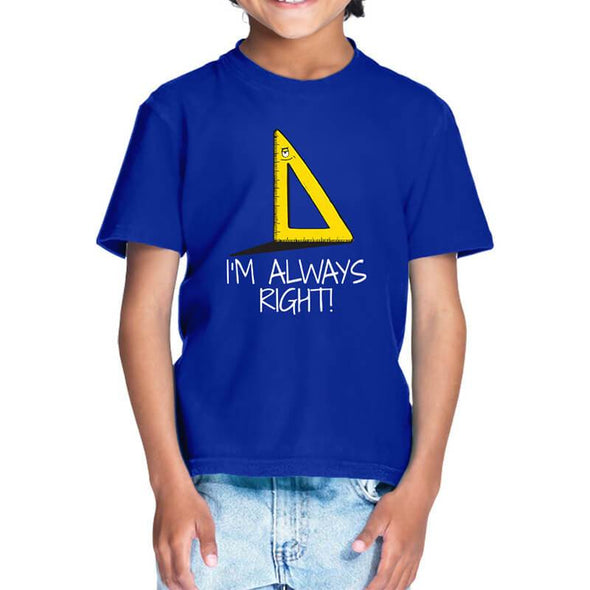 T-SHIRTS I'm Always Right T-Shirt For Kids FRYING PUN