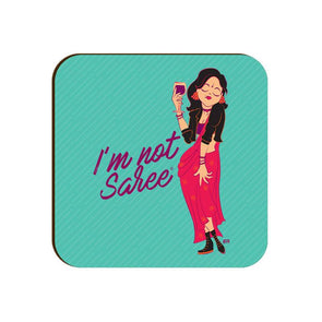COASTERS I'm Not Saree Coaster FRYING PUN
