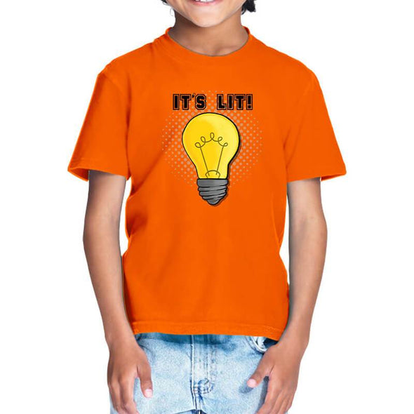 T-SHIRTS It's Lit T-Shirt For Kids FRYING PUN