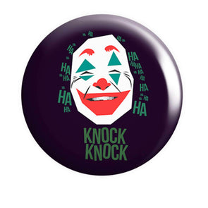 BUTTON BADGES PATTERNED Joker Knock Knock Button Badge