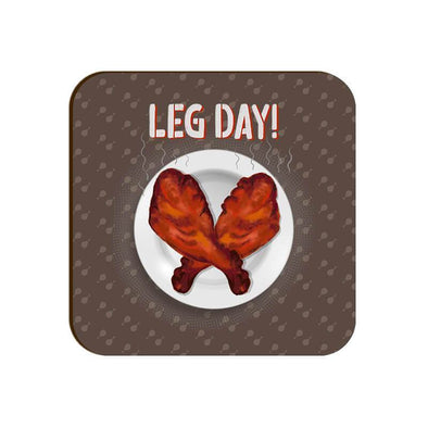 Leg Day Coaster FRYING PUN