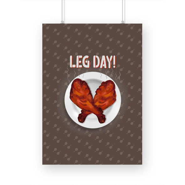 POSTERS Leg Day Poster FRYING PUN