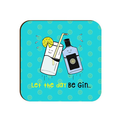 COASTERS Let The Day Be Gin Coaster FRYING PUN