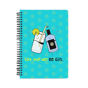 NOTEBOOKS Let The Day Be Gin Notebook FRYING PUN