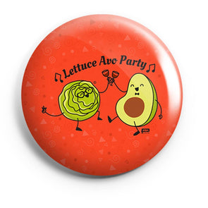 BUTTON BADGES PATTERNED Lettuce Avo Party Button Badge