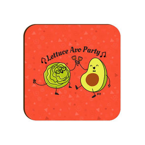 COASTERS Lettuce Avo Party Coaster FRYING PUN