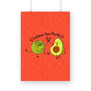 POSTERS A3 Lettuce Avo Party Poster FRYING PUN