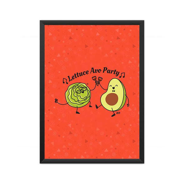 POSTERS A3 FRAMED Lettuce Avo Party Poster FRYING PUN