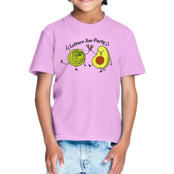T-SHIRTS 1 / LIGHT PINK Lettuce Avo Party T-Shirt For Kids FRYING PUN