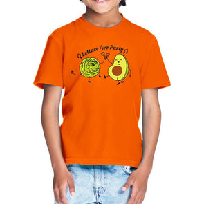 T-SHIRTS 1 / ORANGE Lettuce Avo Party T-Shirt For Kids FRYING PUN