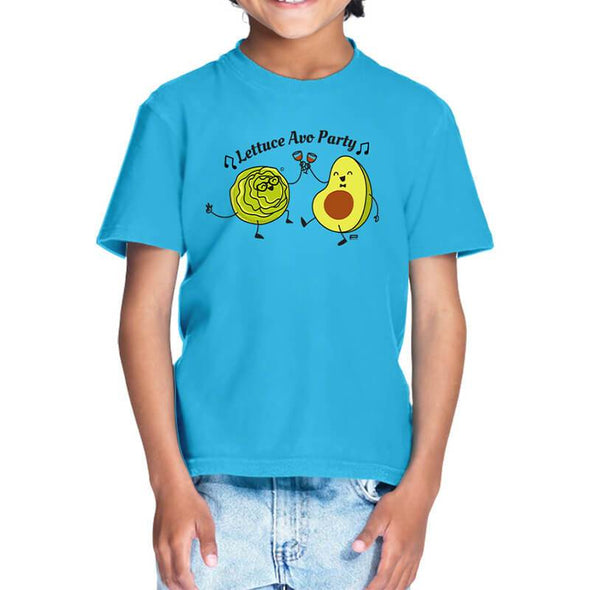 T-SHIRTS 1 / SKY BLUE Lettuce Avo Party T-Shirt For Kids FRYING PUN