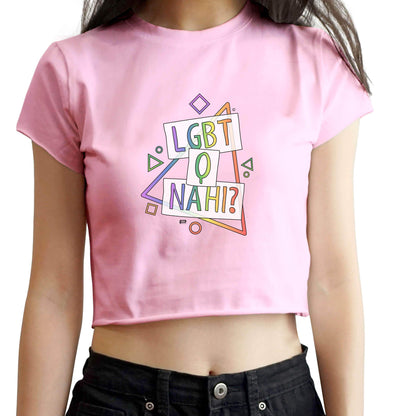 CROP TOPS LGBT Q Nahi Crop Top FRYING PUN