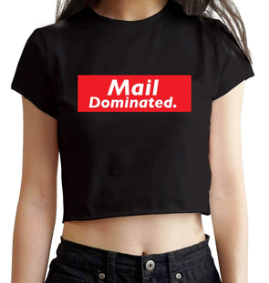 CROP TOPS S / BLACK Mail Dominated Crop Top For Women