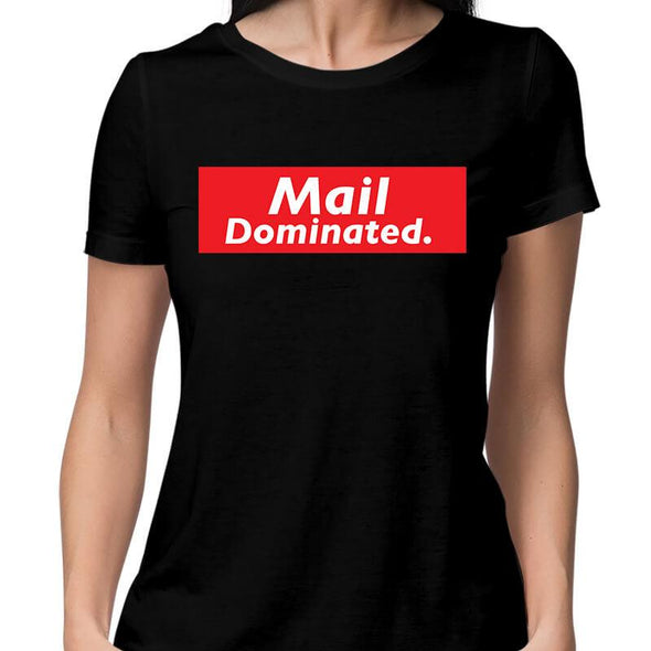 T-SHIRTS XS / BLACK Mail Dominated T-Shirt For Women FRYING PUN