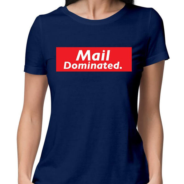 T-SHIRTS XS / NAVY BLUE Mail Dominated T-Shirt For Women FRYING PUN