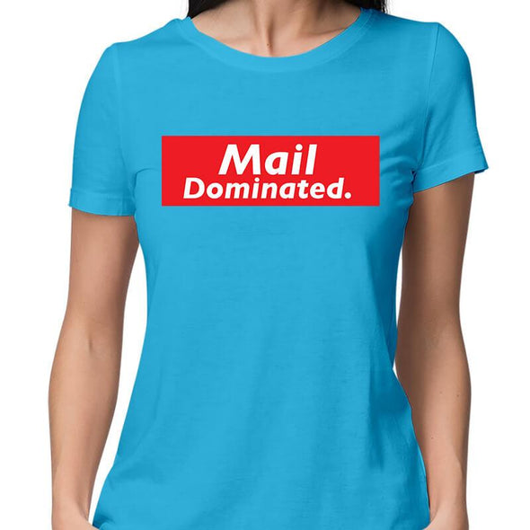 T-SHIRTS XS / SKY BLUE Mail Dominated T-Shirt For Women FRYING PUN