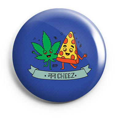 BUTTON BADGES PATTERNED Man Cheez Button Badge