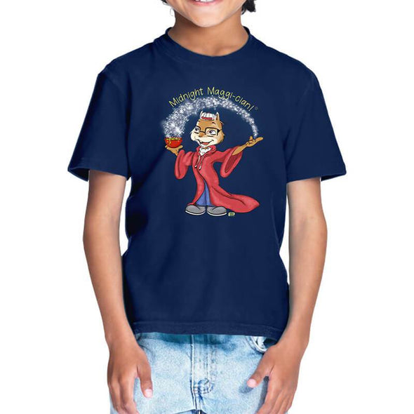 T-SHIRTS 1 / NAVY BLUE Midnight Maggi-cian T-Shirt For Kids FRYING PUN