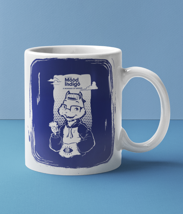 INNER COLORED MUGS BLUE Mood I Official Freddy's Inner Colored Mug