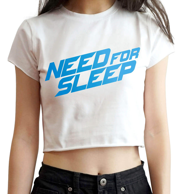 CROP TOPS S / WHITE Need For Sleep Crop Top For Women