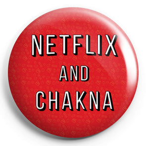 BUTTON BADGES Netflix And Chakna Button Badge FRYING PUN