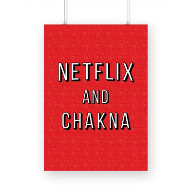 POSTERS A3 Netflix And Chakna Poster FRYING PUN