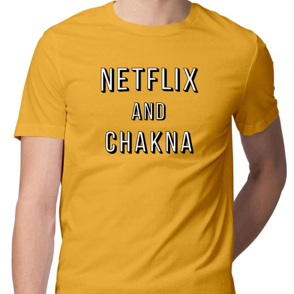 T-SHIRTS S / YELLOW Netflix And Chakna T-Shirt For Men FRYING PUN