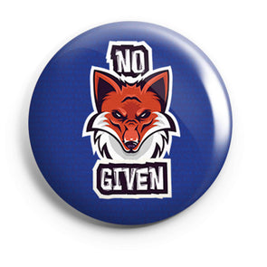 BUTTON BADGES No Fox Given Button Badge FRYING PUN