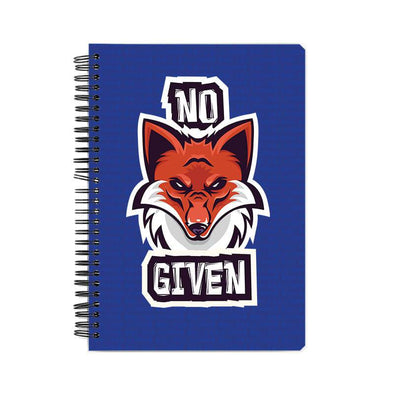 NOTEBOOKS No Fox Given Notebook FRYING PUN