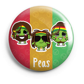 BUTTON BADGES PATTERNED Peas Button Badge FRYING PUN