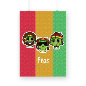POSTERS Peas Poster FRYING PUN