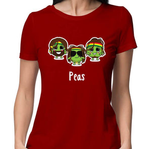 T-SHIRTS XS / RED Peas T-Shirt For Women FRYING PUN