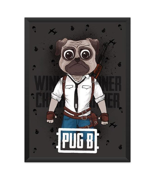POSTERS A3 FRAMED Pug B Poster