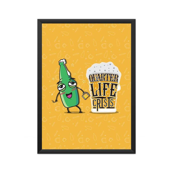 POSTERS A3 FRAMED Quarter Life Crsis Poster FRYING PUN