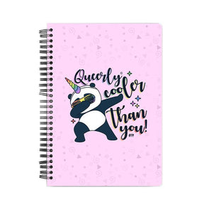 NOTEBOOKS Queerly Cooler Than You Notebook FRYING PUN