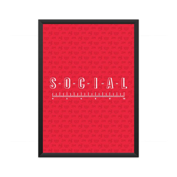 POSTERS A3 FRAMED Social Distancing Poster FRYING PUN
