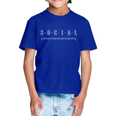 T-SHIRTS 1 / ROYAL BLUE Social Distancing T-Shirt For Kids FRYING PUN