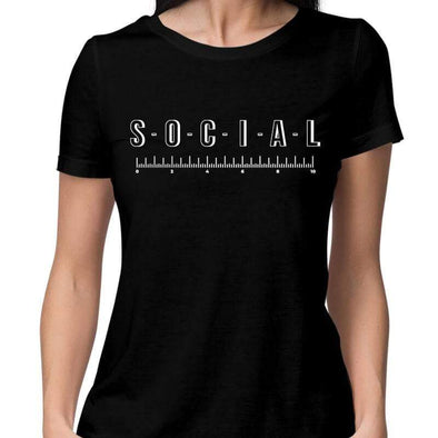 T-SHIRTS XS / BLACK Social Distancing T-Shirt For Women FRYING PUN