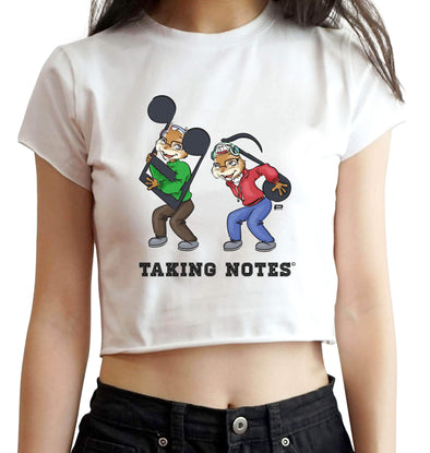 CROP TOPS S / White Taking Notes Crop Top For Women