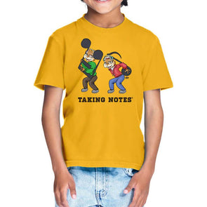 T-SHIRTS 1 / GOLDEN YELLOW Taking Notes T-Shirt For Kids FRYING PUN